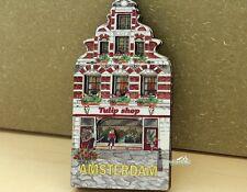 Niederlande Amsterdam Tulpengeschäft Reiseandenken Hölzern Kühlschrankmagnet
