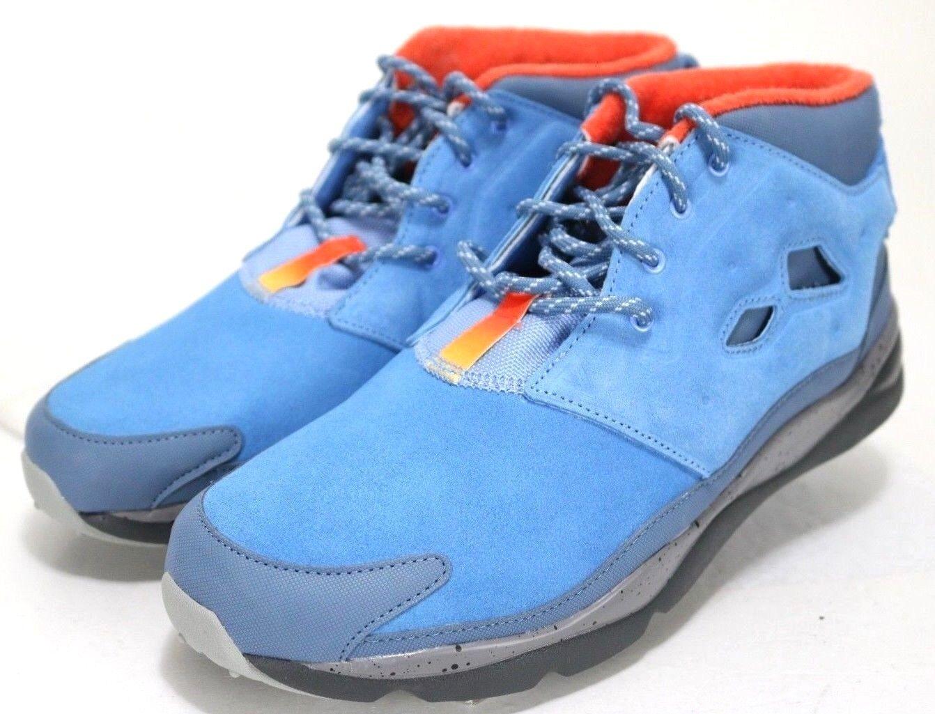 Reebok FuryLite NWOB  119 Men's Mid Top Sneakers shoes Size 11.5 bluee orange