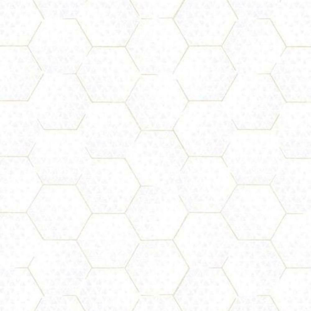 386580 - Enso Geometric Honeycomb gold Creamy White Eijffinger Wallpaper