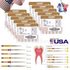 Dental Endodontic Endo X Pro Gold Taper Niti Rotary Files Tip Assorted 25mm