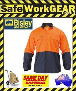 Bisley Workwear Lightweight Drill Work Shirt Long Sleeve BS6895