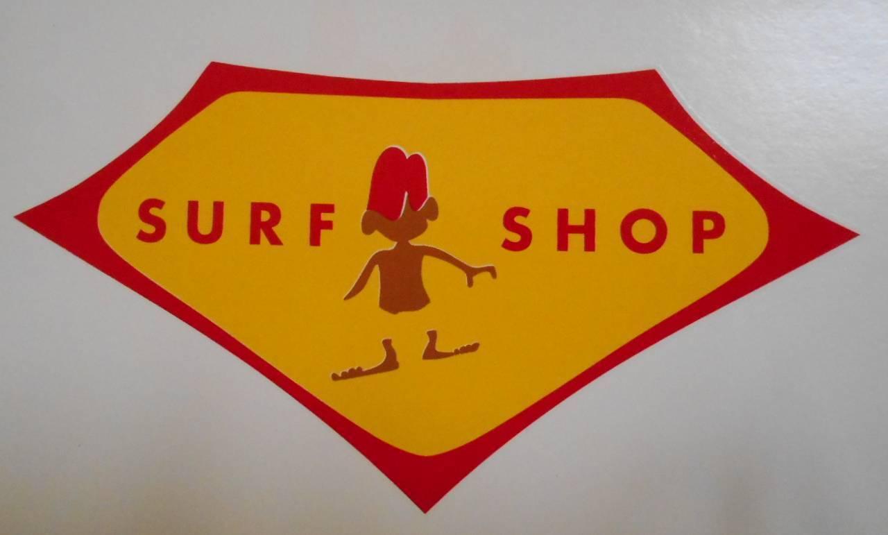 Surf shop water transfer decal surfboard surfboards