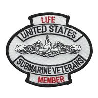 Us Navy - Submarine Veterans Life Member Military Patch