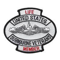 Us Navy - Submarine Veterans Life Member Military Patch