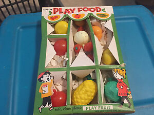 Vintage Toy 1960 S Norstar Play Food In Box Fruit Kitchen Ebay