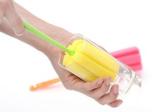 Strumento-di-pulizia-casa-Spugna-Spazzola-per-Wineglass-BOTTIGLIA-caffe-tazza-di-vetro-Pro