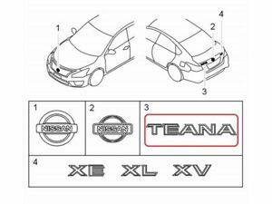"""[NEW] JDM Nissan TEANA L33 Emblem Rear """"TEANA"""" Genuine OEM ALTIMA"""