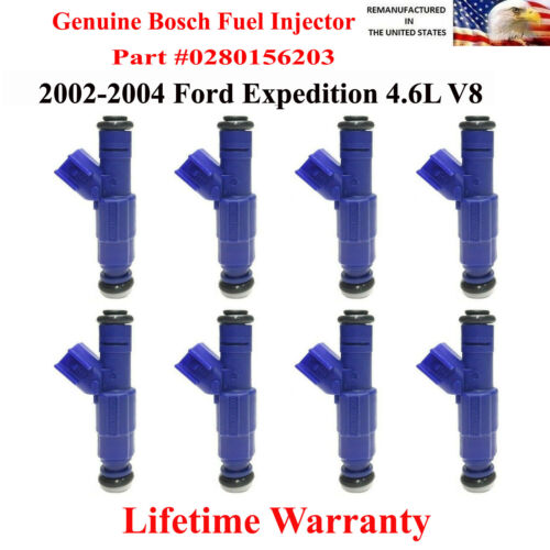 8X OEM Bosh Fuel injectors for 2002-2004 Ford Expedition 4.6L