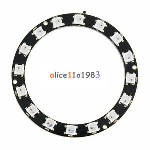 Integrated Drivers For Arduino New 16Bit WS2812 5050 RGB LED Ring RGB LED