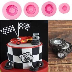 Car Tires Silicone Fondant Mold Cake Decorating Baking Sugarcraft