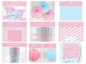 Pink Blue Afternoon Tea Birthday Baby Shower Hen Party Supplies