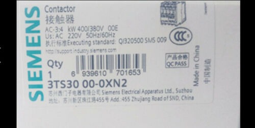 1PC nouveau Siemens 3TS3000-0XN2 220 V Livraison gratuite