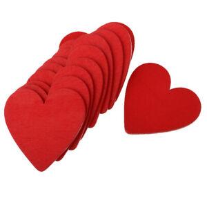 Heart Piece 100Pieces Wooden Love Slice DIY Crafts for Wedding Decoration
