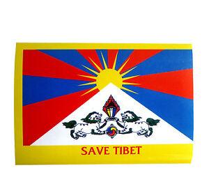 Staatsflagge-034-Koenigreich-Tibet-034-Aufkleber-INDIEN-TIBET