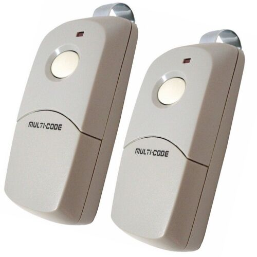 TWO MultiCode 3089 300mhz 10 Code Sw Gate Garage Remote Control Linear MCS308911