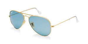 4702dddc80 Image is loading POLARIZED-Limited-Edition-RAY-BAN-Aviator-Blue-Large-
