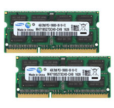 8GB For Samsung 2X 4GB DDR3 2RX8 PC3-10600S 1333mhz 204pin SODIMM Laptop Memory