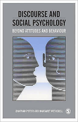 1 of 1 - Discourse and Social Psychology: Beyond Attitudes and Behaviour, Good Condition