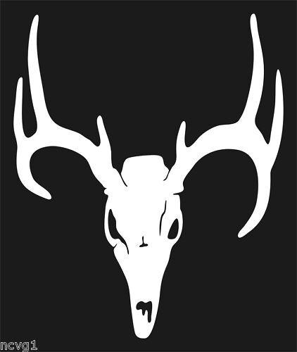 "6/"" DEER SKULL Decal//Sticker buck antler hunting archery #3"