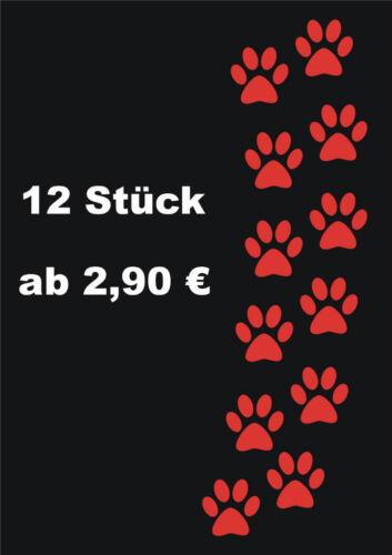 12 Hundepfoten Pfoten Hunde Aufkleber Auto Wandtattoo