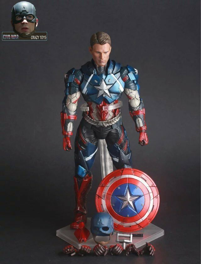 Marvel Universe Avenger Captain America Crazy Toys Action Figure Display Toy