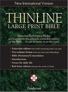 Niv thinline bible this portable extra thin edition of the bible stock photo thinline large print bible new international version english zondervan leather fandeluxe Gallery
