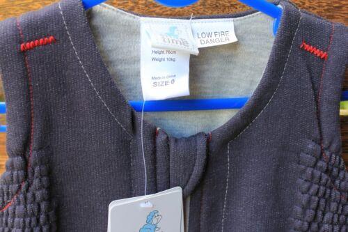 Baby Girls Boys Kids Snugtime Navy Fleece sleepwear Sleep Cosi bag Vest