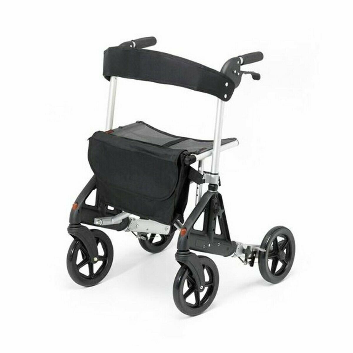 s l1600 - Days Fortis Rollator with Adjustable Seat Height Silver - 091558345