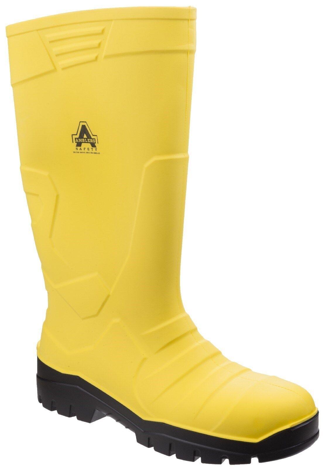 Amblers AS1007 Sicurezza Stivali di gomma Acciaio Puntale Stivali di Gomma da Uomo Work Boots