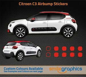 Citroen-C3-Airbump-Stickers-decals-Red-Other-colours-available
