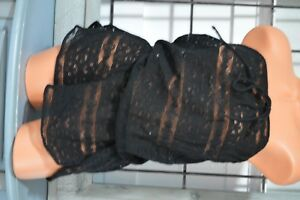 15ff39cc1ace8 Victoria s Secret swim cover up M black lace romper shorts