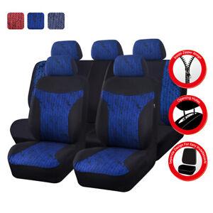 Universal-Premium-Blue-Car-Seat-Covers-Fit-Split-Rear-For-Truck-SUV-Honda-Sedan