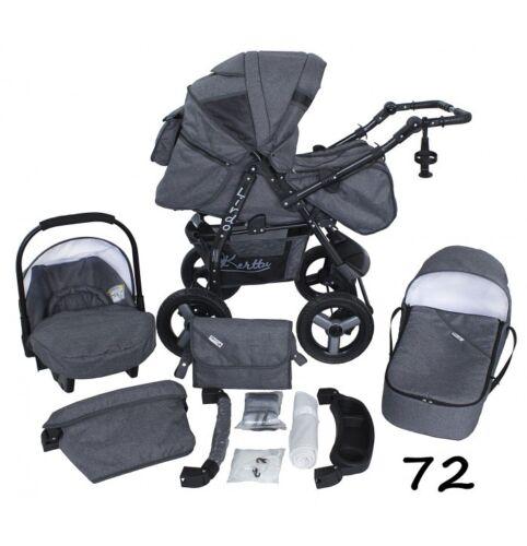 Cochecito de bebé Cochecito 3in1 Pushchair Asiento de Coche Sistema De Viaje Capazo Buggy Regalos