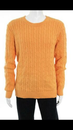 Cable Knitted Rugger Size Gant Rrp Small £150 Orange Sweater qPBwpA