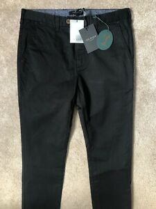 Ted-Baker-Schwarz-034-teenchi-034-Tapered-Fit-Hose-Hosen-Chinos-30r-NEU-amp-Tags