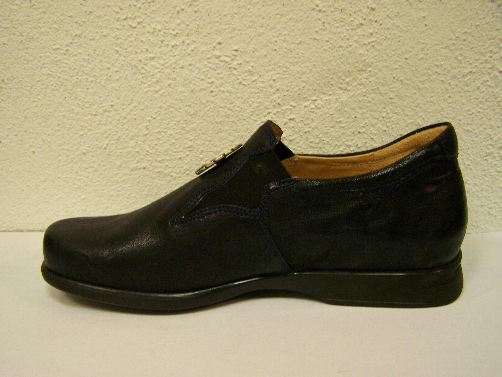 Think! Schuh Pensa dunkelblauer Slipper ozean + Schuhbeutel
