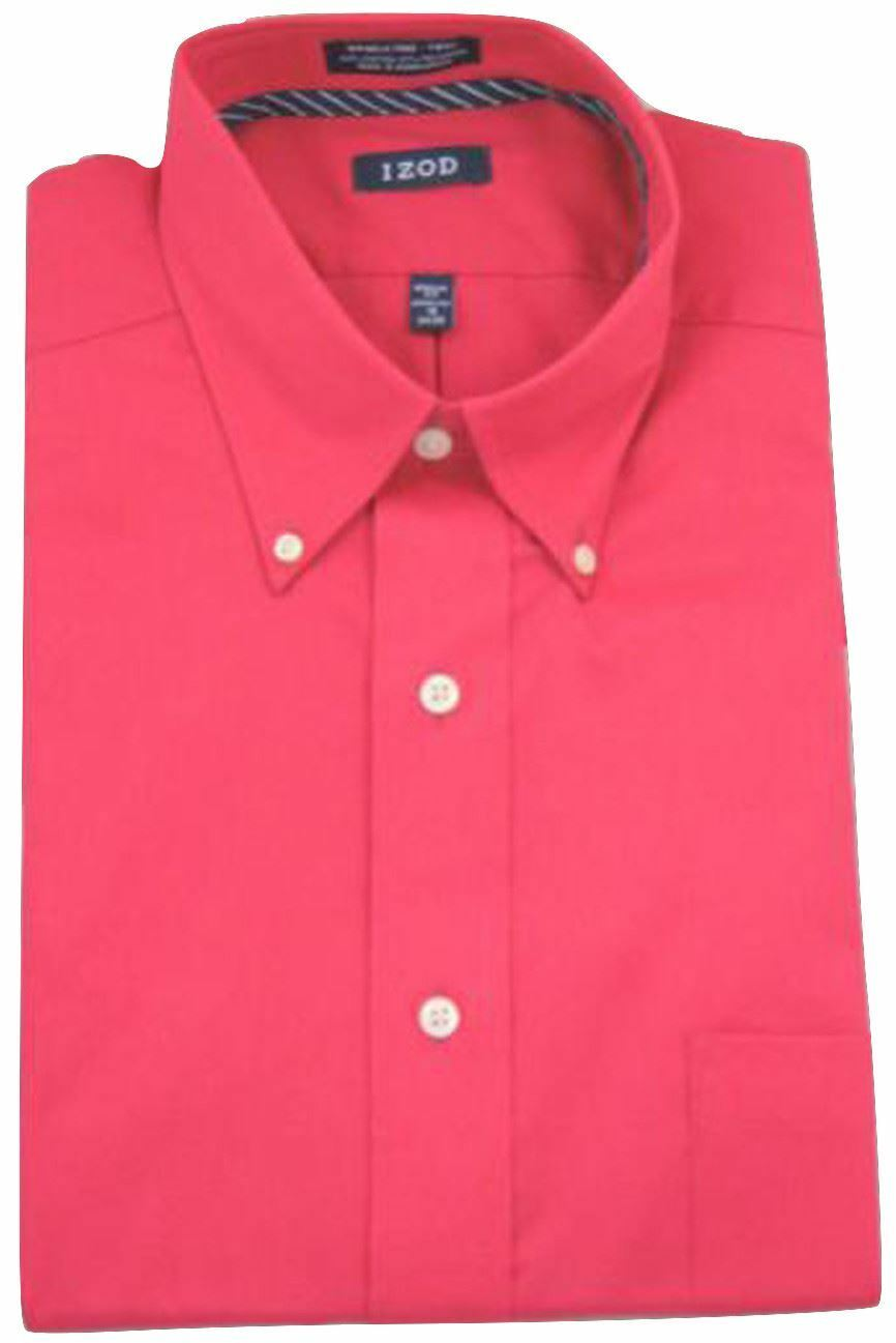 Ruby Pink Twill Button-Down