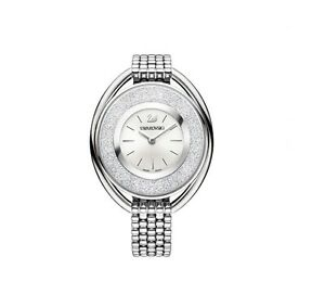 5181008 Details About Rrp549 Crystalline Swarovski Bracelet White Oval WatchSwiss Made Nn8m0w