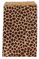 500 Leopardl Print Merchandise Retail Paper Party Favor Gift Bags 4 X 6 Tall