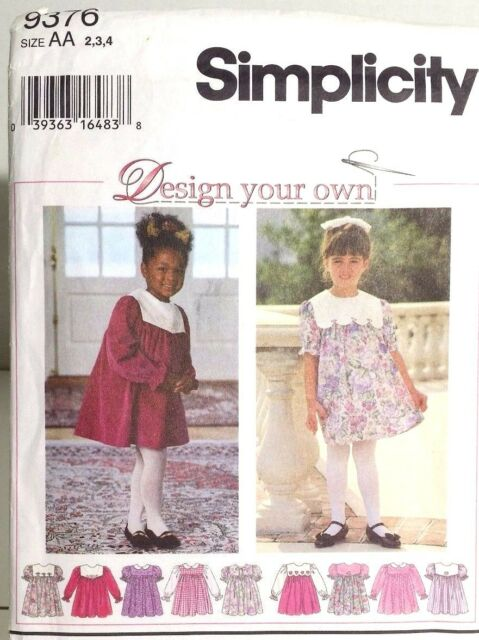 Girls Christmas Church Party Dress Sewing Pattern 9376 Size 5 6 6x Simplicity