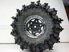"4 Black-XT Axial SCX10 Snow Chains. Fit # 12019 Axial Maxxis Trepador 1.9"" Tires"