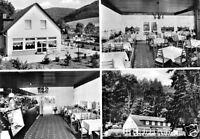 """AK, Bad Pyrmont - Löwensen, Café-Restaurant """"Friedensthal"""", vier Abb., 1976"""