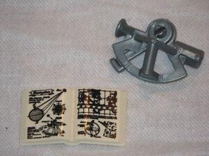 PLAYMOBIL-Piraten-Schiff-Navigation-1x-Logbuch-Handbuch-Sextant-blausilber