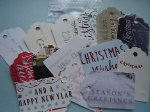 Christmas Gift Tags Handmade.Details About 15 Sentiments Greetings Christmas Gift Tags Luggage Labels Handmade Shabby Chic