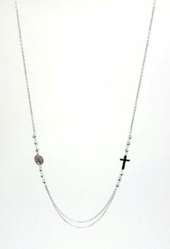 925 Sterling Silver Christ Jesus Mother Virgin Mary Necklace Religious Jewelry