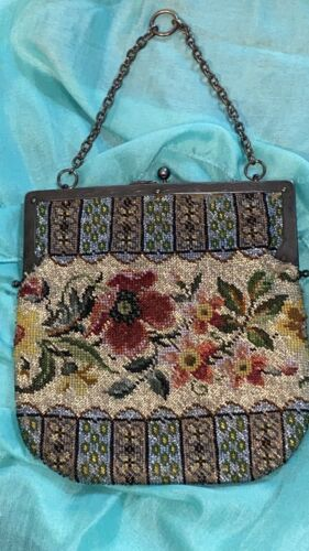 VINTAGE 20's-30's GLASS BEADED PURSE