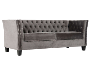 Chesterfield-Modern-Contemporary-Sofa-3-Seater-Grey-Velvet-Settee-FAST-DELIVERY