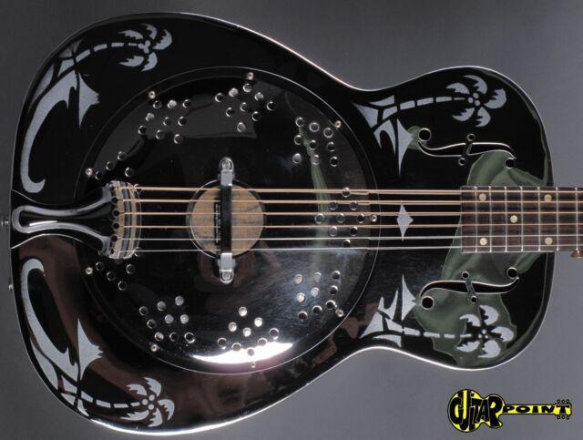 1979 Dobro Model 33H  Round neck Resonator Guitar -Metal Body- Hawaian Motives