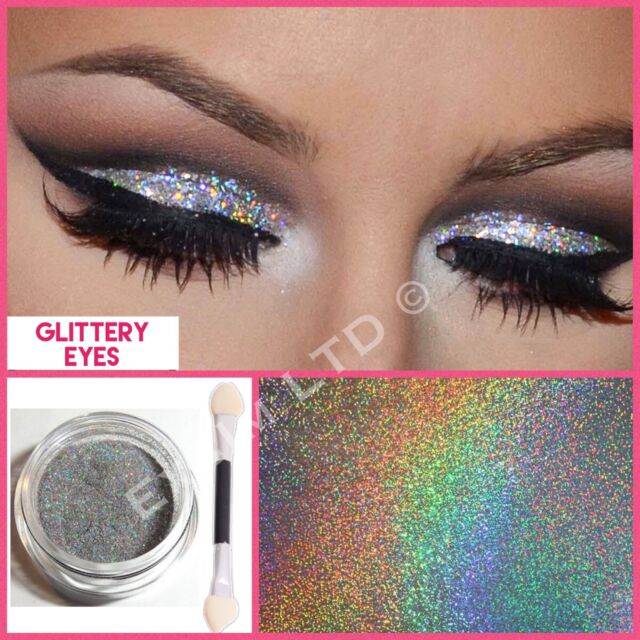 Make Up Eye Shadow Glitter Silver Holograph Sparkling Dust Body Face