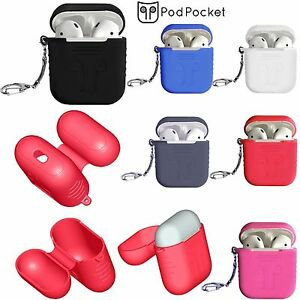 3Gen-Soft-Silicone-Key-chain-Case-Cover-Skin-Sleeve-For-Apple-AirPods-Earphones